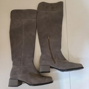 Camper gray suede winter boots sz 8 [N1E]